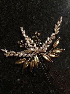 Hojas de oro novia Pin otoño boda peluca boda rústico