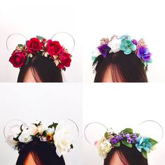 Flower crown Minnie ears make Disney even more magical! 。・:*:・゚★,。・:*:・゚☆・:*:・゚★,。・:*:・゚☆