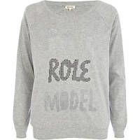 "Grey ""Bad Role Model"" -- River Island Collection"