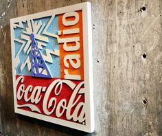 Coca cola radio sign, via Flickr.