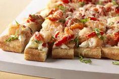 Shrimp Pizza Squares