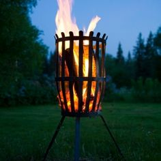 The Fire Basket from Röshults creates a cozy atmosphere in the late summer evenings and warms up the cold winter nights. Made out of steel in Sweden, the Fire Basket is a centrepiece which everyone can gather around. Outdoor Oven, Outdoor Fire, Design Shop, Fire Pit Grill, Fire Pits, Fire Basket, Garden Fire Pit, Metal Art Projects, Outdoor Lighting