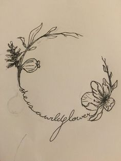Image result for word floral tattoo