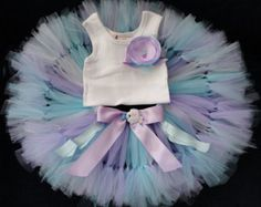 Baby Girls Birthday Tutu Dress Outfit, Sweet SeaShell Mermaid Baby Tutu Dress