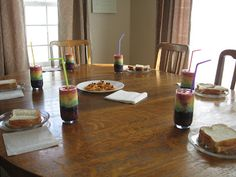 Almost Unschoolers: Rainbow Fruit Smoothies
