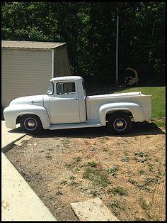 1956 Ford Pickup, 1956 Ford Truck, Old Ford Trucks, Semi Trucks, Old Ford Pickups, American Pickup Trucks, 1956 Ford F100, Classic Ford Trucks, Old Pickup