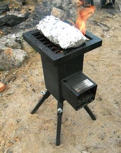 Deadwood stove cooking foil wrap: Outdoor cooking is easy on a Deadwood Biomass Stove.