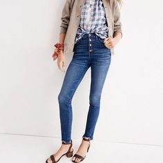 "10"" High-Rise Skinny Jeans: Chewed-Hem Edition"