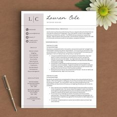 Creative Resume Template  Cv Template  Free Cover Letter  Word