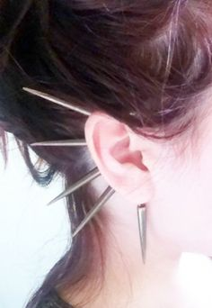 Gold Spiked Ear Cuff by francisfrank on Etsy, $18.00