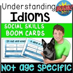 This is a pack of 37 Boom cards targeting the ability to understand commonly used idioms (by using memory and context clues). Your students will get lots of idiom practice with these boom cards. Each card features an idiom in its context if the student is unfamiliar with the idiom to begin with.Al...