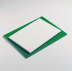 Kunststoffbeschichtet NonStick Board mit Matte, grün, 30 x 25 cm