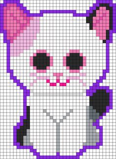 Muffin Kitten Beanie Boo Perler Bead Pattern / Bead Sprite