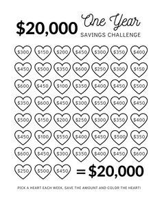 Savings Challenge, Money Saving Challenge, Savings Plan, Saving Money Chart, Money Saving Hacks, Saving Money Weekly, Saving Money Plan, Best Money Saving Tips, Saving Ideas