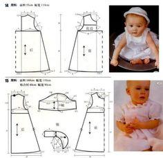Como hacer un ropon, conjunto y vestidos para bebe05