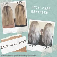 Renu hair mask a product from Nu skin that helps with repairing hair Nu Skin, Hair Repair, Place Card Holders, Beauty, Products, Beleza