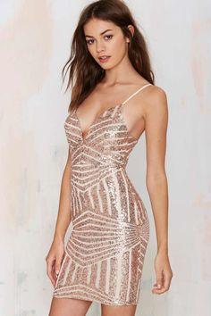 Tiger Mist Disco Diva Sequin Dress//