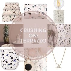 Move over marble, there's a new stone cold love in my life and his name is terrazzo! Although traditionally used for flooring, terrazzo is featuring more and more as the inspiration for a wid…