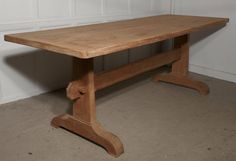 19th Century Arts and Crafts Bleached Oak Refectory Table   From a unique collection of antique and modern dining room tables at https://www.1stdibs.com/furniture/tables/dining-room-tables/
