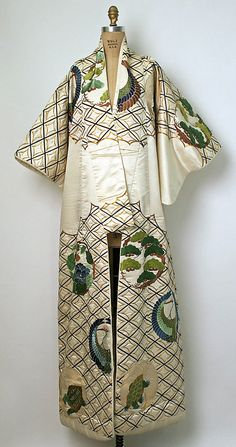 Kimono Date: 1800–1941 Culture: Japanese Medium: silk Dimensions: [no dimensions available] Credit Line: Gift of Mrs. Van S. Merle-Smith, 1941 Accession Number: C.I.41.110.68