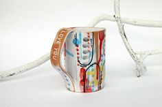 ceramic coffee mug, I love you quote cup, engagement gift by BottegaKrua on Etsy