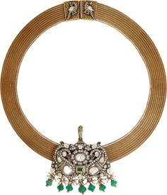 Necklace from Munnu Gem Palace Polki and Gold Mesh Chain Indian Jewellery Diamond Necklace Simple, Diamond Pendant Necklace, Diamond Jewelry, Gold Jewelry, Jewelry Necklaces, Fine Jewelry, Jewelery, Diamond Necklaces, Gold Pendent