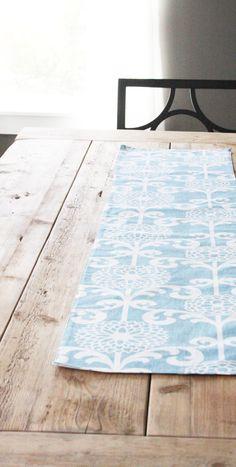 Fabric Table Runner  Wedding Inspired Blue by toocutecustomcrafts, $44.00