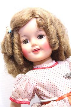 Vintage Shirley Temple Doll Ideal Toy with Stand Hair Barrett Name Pin #Ideal