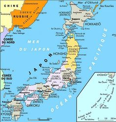 Map of Japan Country