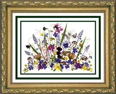 Lovely Pressed flower picture