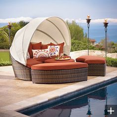 Frontgate-Baleares Bronze Modular Lounger. Am I a total nutter butter that want this for my deck in Wa-silly?