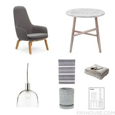 Interior Wish List Including Normann Copenhagen Accent Chair Marble Furniture Crate And Barrel Ceiling Light And Boho Rug From October 2015 #home #decor
