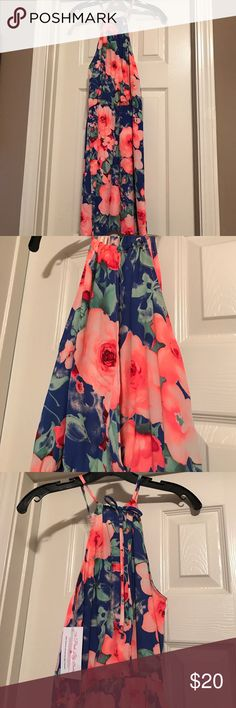 Boutique floral print dress Fun bright floral print NWT bought online at pink lily boutique Dresses Mini