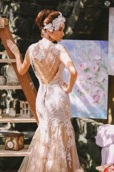 Jazel Sy Bridal. Love the back lacing!