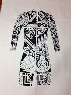 Maori tattoo Bodysuit design