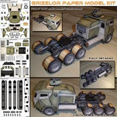 PAPERMAU: Grizzlor Heavy Hauler Paper Model - by Spyker Enterprise