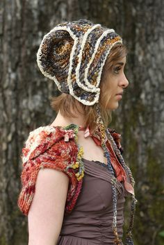 Freeform crochet hat by girlwithahook on Etsy