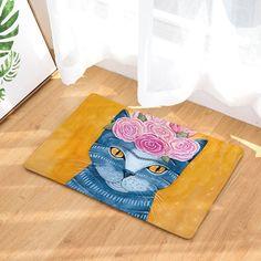 Cat Lovers Feline Print Multicolor Mats 40*60cm/50x80cm Entrance Doormats Washable Kitchen Floor Bathroom Rug