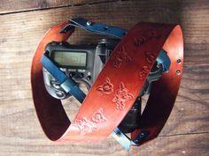 Custom Leather Camera Strap Handmade by RSVP