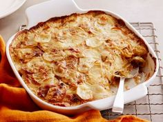 Caramelized Vidalia Onion and Potato Gratin with Fresh Sage, Bobby Flay