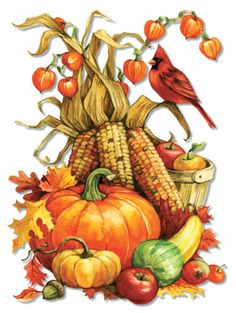 Fall Colors, a traditional puzzle Vintage Thanksgiving, Vintage Fall, Vintage Clip, Autumn Painting, Autumn Art, Fall Clip Art, Autumn Scenery, Fall Wallpaper, Fall Pictures