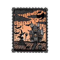 "Original Papercut Illustration - 8x10"" Fine Art Print - Halloween!  by SarahTrumbauer on Etsy"