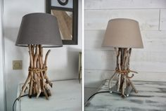 Cool IKEA hacks ideas before after customa table lamp driftwood