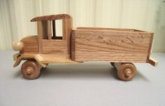 Classic Old Fashioned Truck Eco-friendly Reclaimed Wood Wooden Toy Car For…