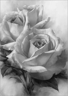Rose Gray scale adult coloring page