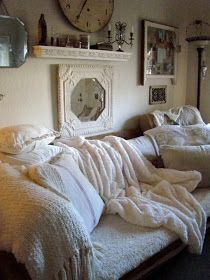 Turning into the colder months I love to snuggle on the couch with my sweetheart with thick warm blankets over us.