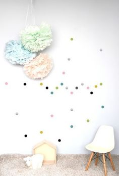 POM muurstickers Confetti stip multicolour pastel