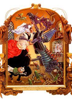 The Art of Leo and Diane Dillon: Nancy Willard: Pish Posh Said Hieronymus Bosch
