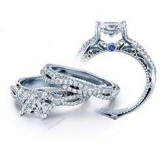 V-Prong Setting Criss-Cross Princes Cut D/VVS1 Diamond Women's Engagement Ring…