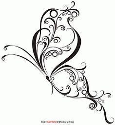 60 Awesome free butterfly tattoo designs + the meaning of butterfly tattoos. Designs include: feminine, tribal and lower back butterfly tattoos. Future Tattoos, New Tattoos, Body Art Tattoos, Tribal Tattoos, I Tattoo, Phoenix Tattoos, Tatoos, Swirl Tattoo, Celtic Tattoos